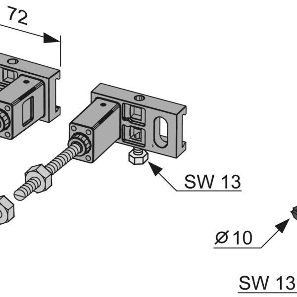 Sistem de fixare cu talpa pentru cadre TECE, reglabil in adancime - 9380000
