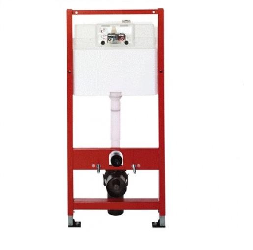 Rezervor WC cu cadru TECE BASE, actionare frontala, inaltime 1120mm, cu sistem de fixare, set izolare fonica si clapeta crom lucios incluse - 9400006