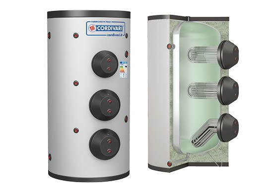 Boiler de 2000 litri cu schimbator de caldura extractabil - 3092162360107