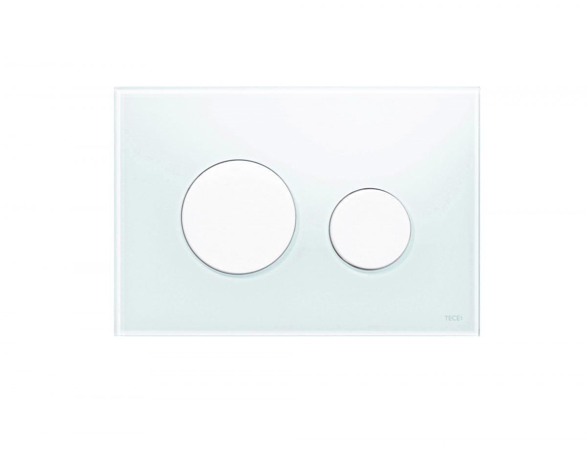 TECEloop - clapete WC din sticla, 2 trepte de actionare